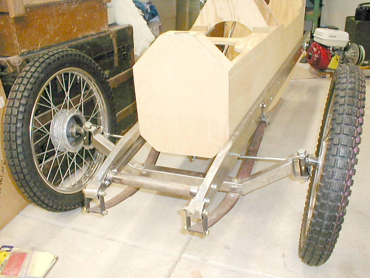 how to build a go kart frame with suspension